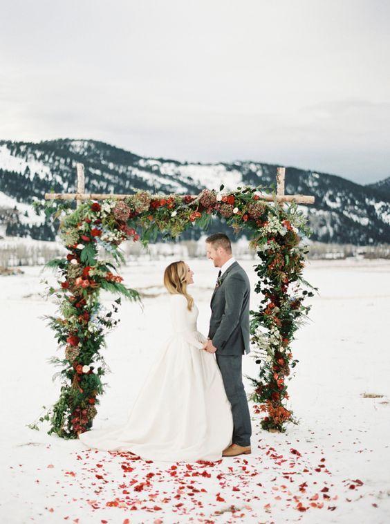 Scenari innevati per matrimonio d'inverno italia